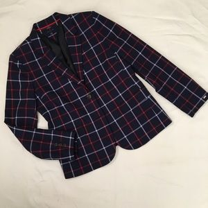 Tommy Hilfiger Navy Windowpane Blazer